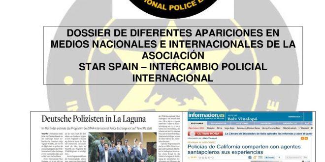 Diferentes apariciones en prensa escrita de la Asociación STAR SPAIN-Intercambio Policial Internacional